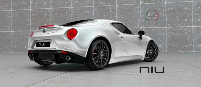 cerchi in lega NIU 100% Made in Italy su Alfa 4C