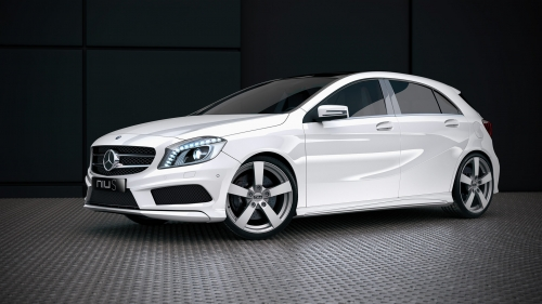 Mercedes Benz A-Class with Niu S Matt Silver alloy wheels