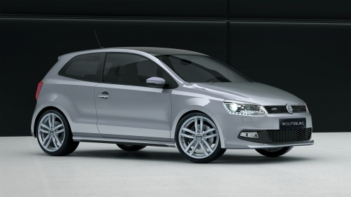 Volkswagen Polo with NIU Wolfsburg Silver alloy wheels